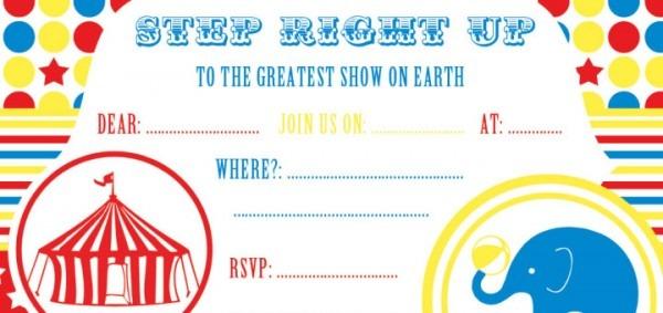 Free Party Invitation Circus X Luxury Circus Party Invitation