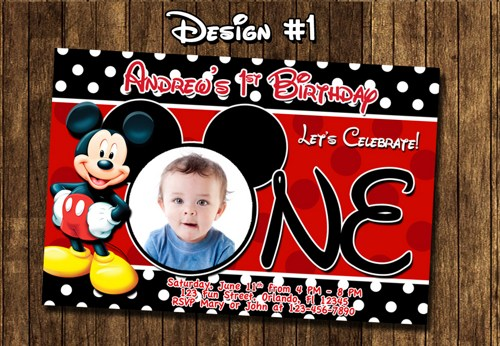 Free Personalized Mickey Mouse Birthday Invitations Good With Free