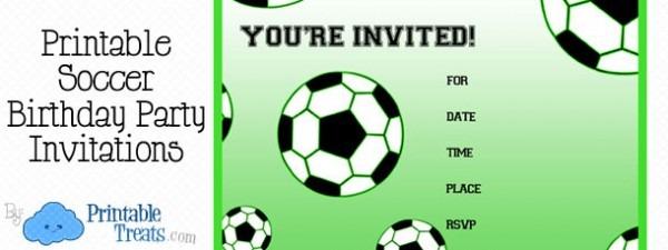 Free Prin Lovely Free Printable Soccer Birthday Invitations