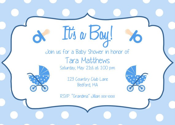 Template  Baby Shower Boy Invitation Templates Free