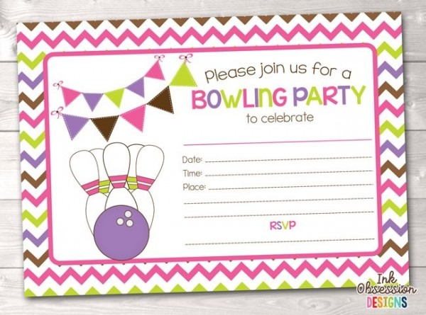 Free Printable Bowling Birthday Party Invitations Cool With Free