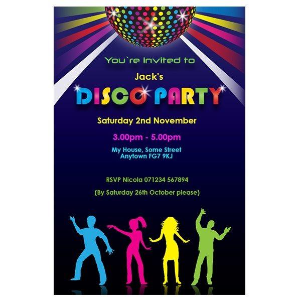 Disco Pa Nice Custom Disco Party Invitations