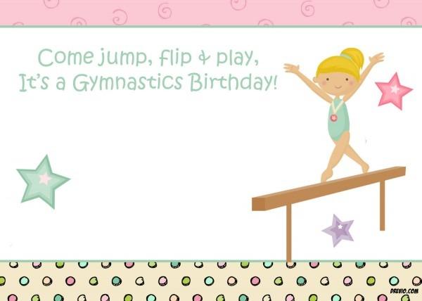 Free Printable Gymnastic Birthday Invitations – Updated!