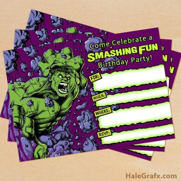 Hulk Birthday Invitat Ideal Hulk Birthday Invitations
