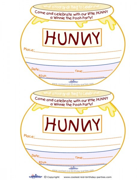 Winnie The Pooh Free Printabl On Butterfly Baby Shower Invitations