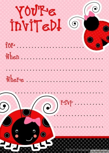 Free Printable Ladybug Invitation Template X Epic Free Printable