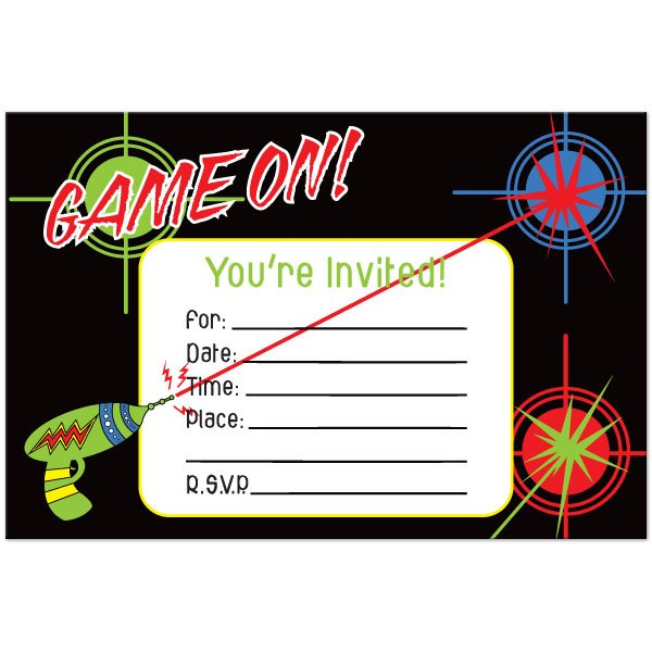 Free Printable Laser Tag Invitation Template Great With Free