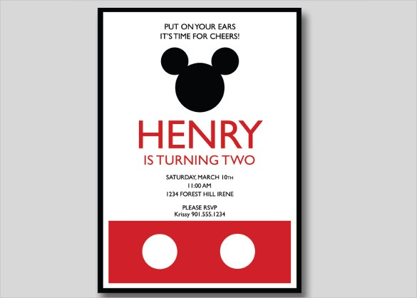 Free Printable Mickey Mouse Birthday Invitations Spectacular With