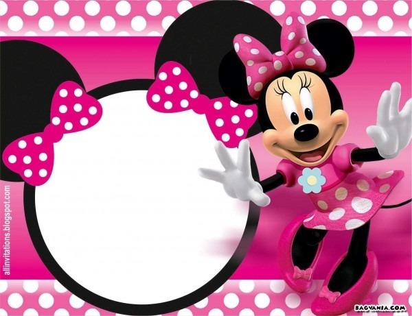 Free Printable Minnie Mouse Birthday Invitations Bagvania Free