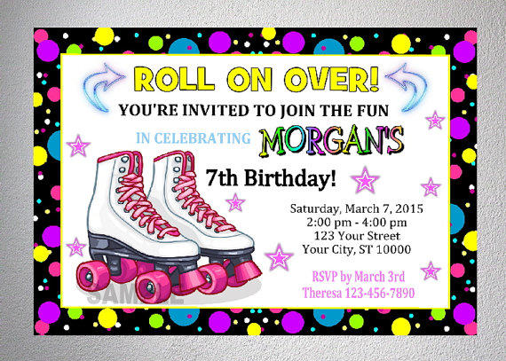 Free Printable Roller Skating Birthday Party Invitations Awesome