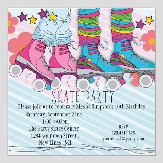 Skating Party Invitation Template Free Reference Of Magnificent