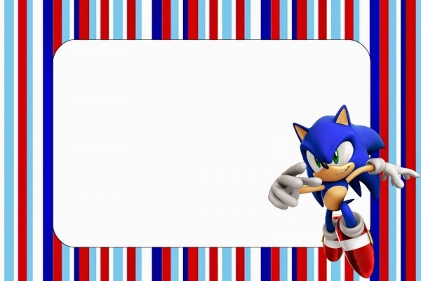 Sonic  Free Printable Invitations