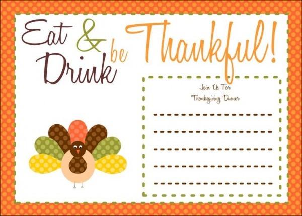 Free Printable Thanksgiving Invitations Thanksgiving Birthday