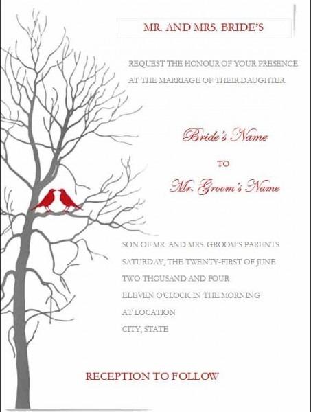 Free Printable Wedding Invitation Templates For Word Microsoft Diy