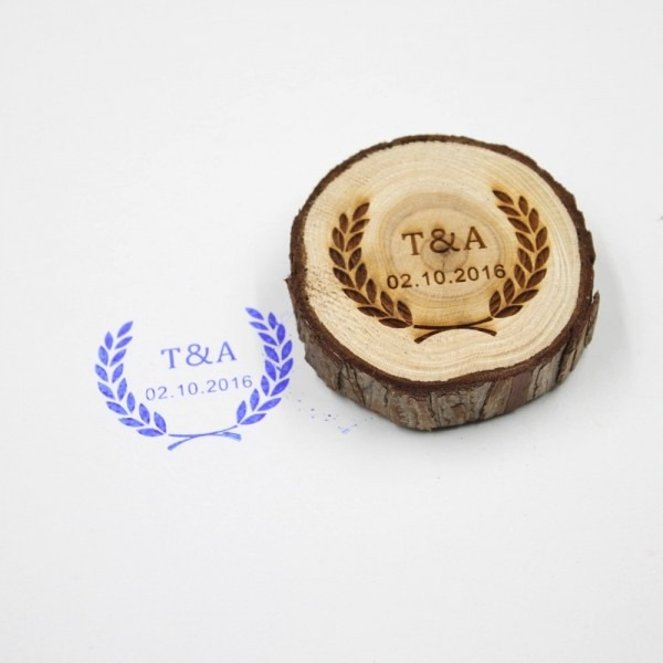 Free Shipping Personalized Wedding Stamp Custom Wood Stamp With