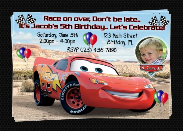 Lightning Mcqueen Birthday Invitations Lovely Invitation Templates