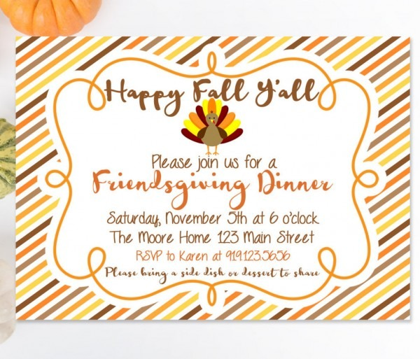 Friendsgiving Dinner Printable Invitation, Fall Festival