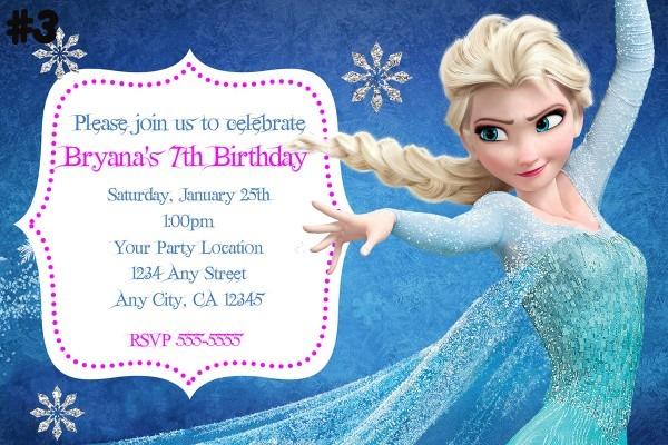 Frozen Photo Birthd Nice Frozen Birthday Invitation Ideas