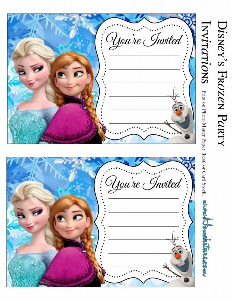 Frozen Birthday Invitations Printable Perfect With Frozen Birthday