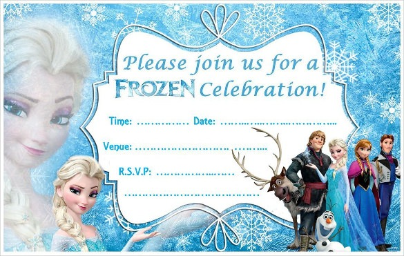 Invitation  Frozen Birthday Invitations Printable