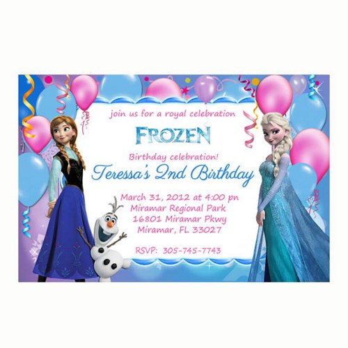 Frozen Birthday Party And Amazing Free Printable Frozen Birthday