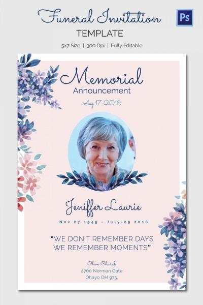 Funeral Invitation Template Fresh Free Funeral Program Templates