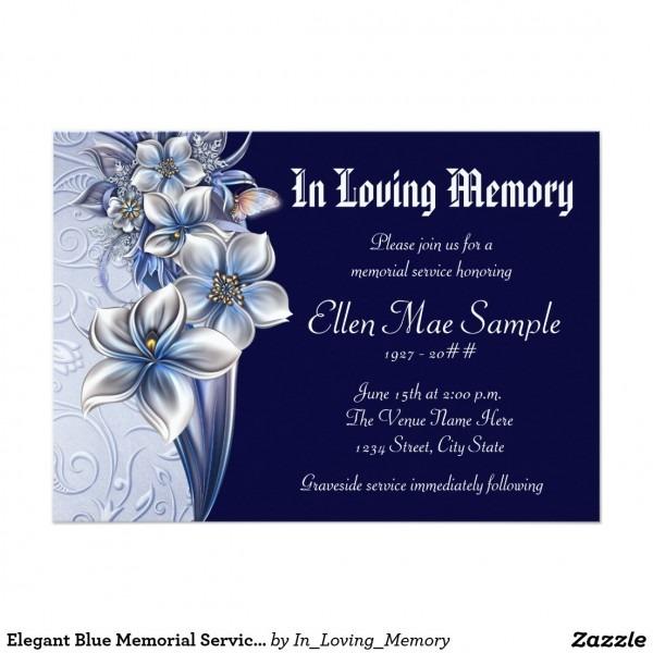 Card  Funeral Invitation Card Template