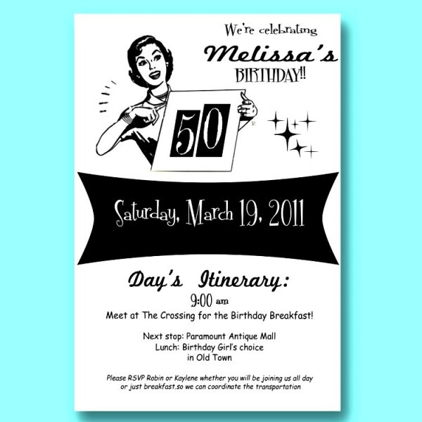 Free 50th Birthday Party Invitation Templates Free Downloads 32