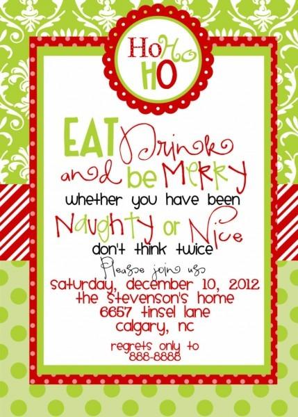Funny Christmas Invitations Wording