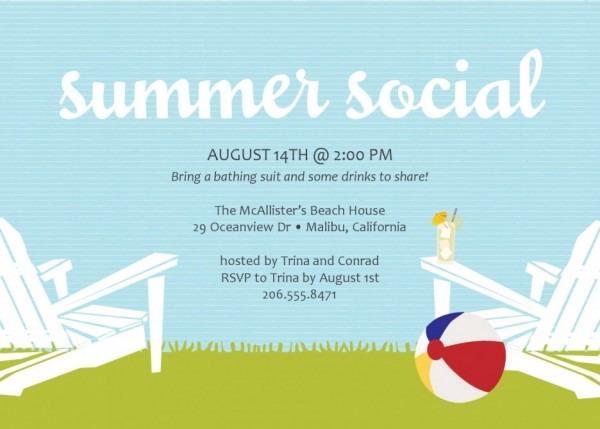 Summer Invitation Ideas