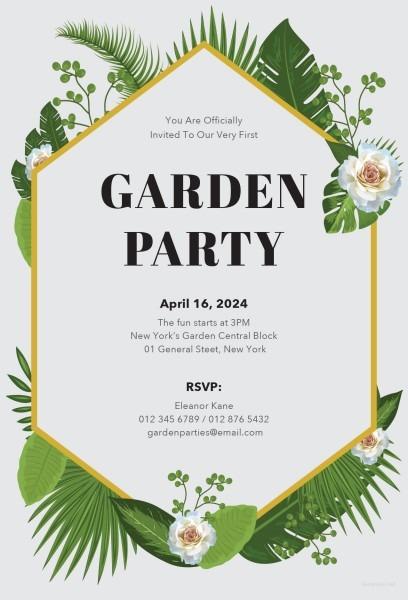 Proddetail Cfm Stunning Garden Party Invitation