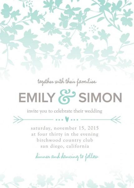 Gartner Wedding Invitations Templates