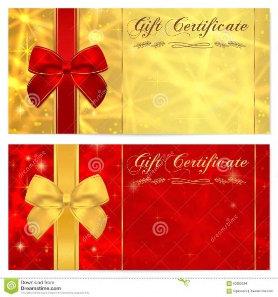 Gift Certificate, Voucher, Coupon, Invitation Or Gift Card