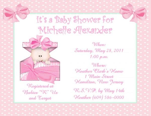 Girl Baby Shower Invitation Ideas