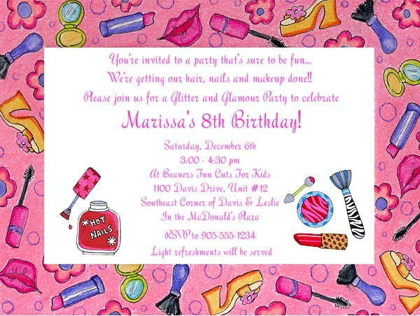 Glamourinvitenew Lovely Makeup Party Invitations