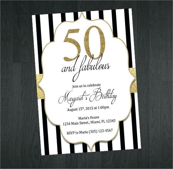 Gold Black And White Birthday Invitation Party Invitations