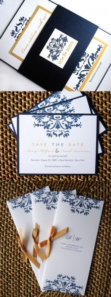 15 Best Of Gold Wedding Toile Printable Invitation Kit Images
