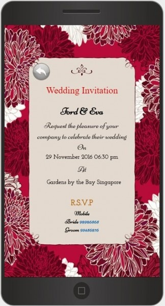 A Mobile Wedding Invitation Webiste By Gracewood Co