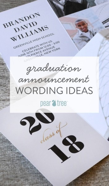Graduation Announcement Wording Ideas