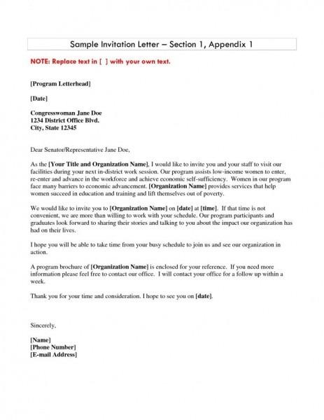 Graduation Invitation Letter Templates Save Sample Invitation