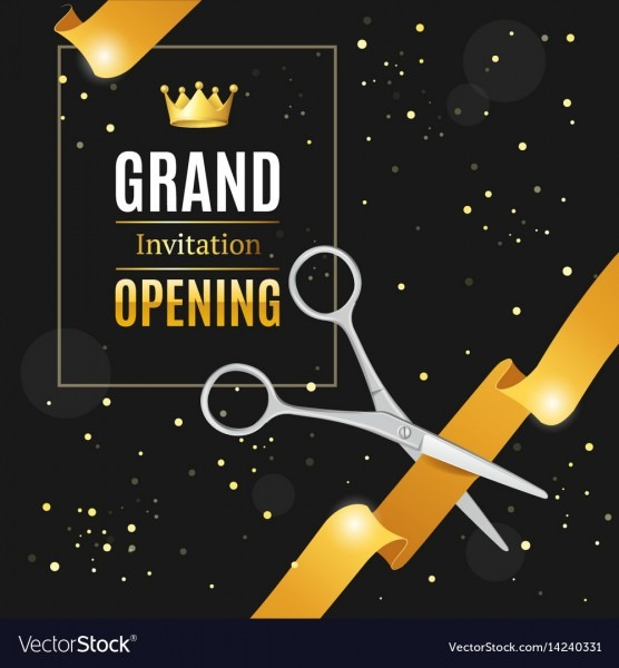Grand Opening Invitation Card Royalty Free Vector Image