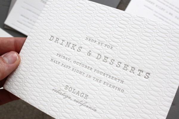 Margaret + Patrick's Understated Letterpress Wedding Invitations