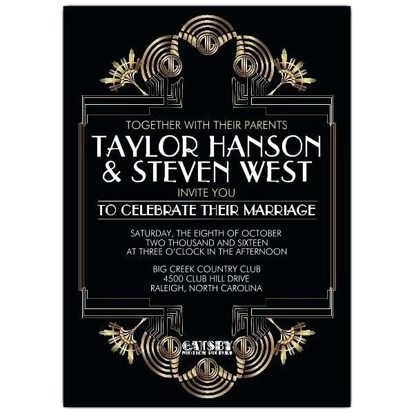 Great Gatsby Bridal Shower Invitations New Wedding For Other 88