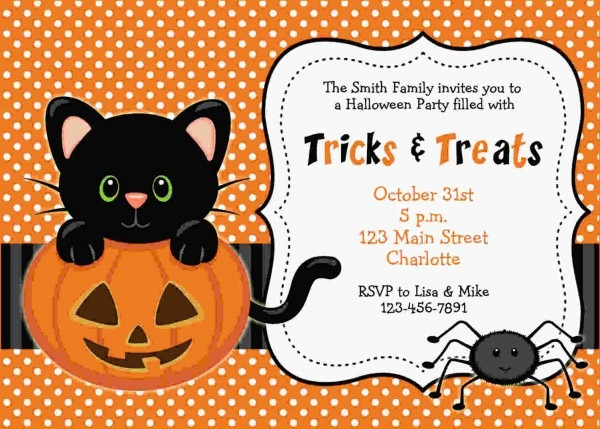 Great Halloween Themed Birthday Party Invitations 77 About Remodel