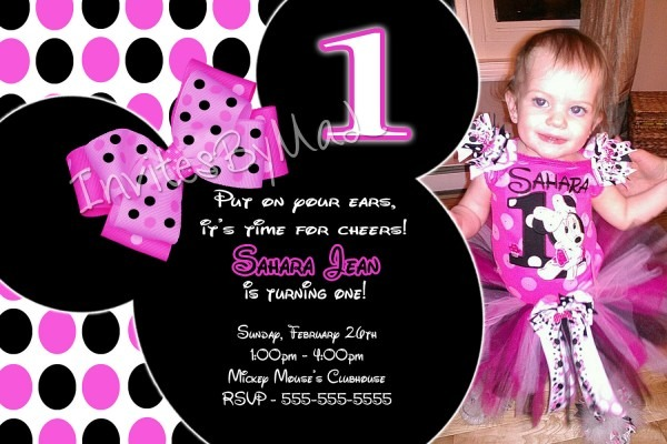 Great Minnie Mouse Birthday Party Invitations 73 For Invitations