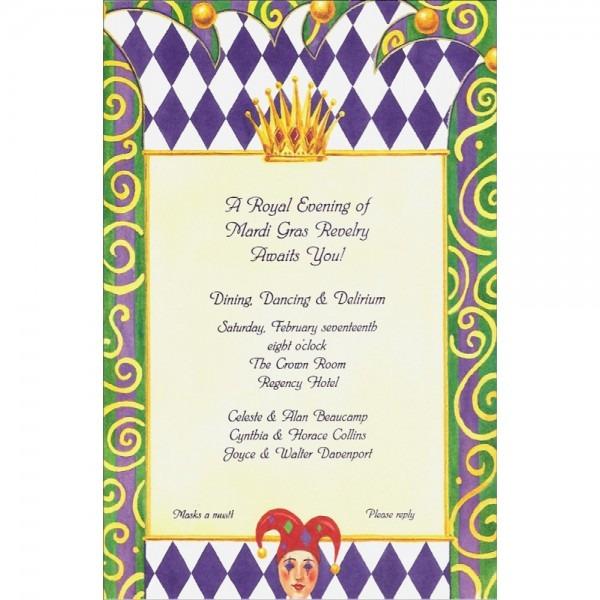 Royal Mardi Gras Invitation []