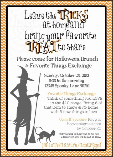 Party Invitations  Halloween Party Invitation Wording To Create