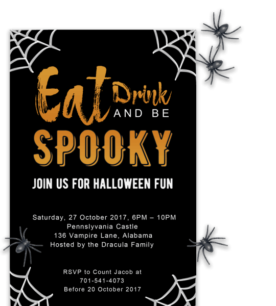 Free Printable Halloween Party Invitations 2018 ✅ [ Template]