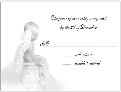 Stunning Baby Shower Invitations Heavenly Baby Reply Card Set Baby