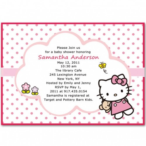 Hello Kitty Baby Shower Invitations Hello Kitty Baby Shower